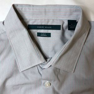 Perry Ellis slim fit non-iron long sleeve button L
